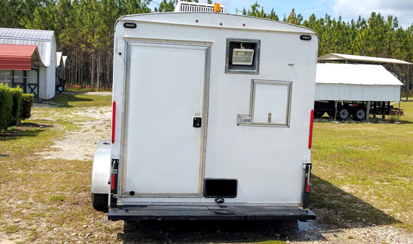 Fiber Optic Splice Trailer Rear View